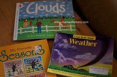 Homeschooling Kindergarten: Teaching About the Weather