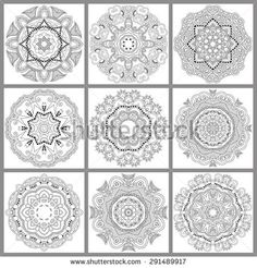 unique coloring book square page for adults - floral authentic circle design, joy to older children and adult colorists, who like line art and creation, vector illustration