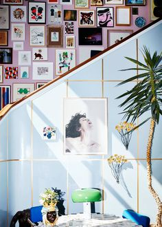 (Owner of Holly Golightly, Barbara Maj Husted Werner. Cafe Interior, Interior And Exterior, Beautiful Interiors, Colorful Interiors, Interior Inspiration, Room Inspiration, Herringbone Wood Floor, Dream Decor, Decoration