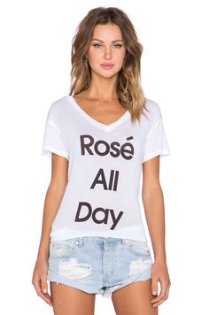 I NEED this lil white t-shirt in my life!! Wildfox Couture Rosé All Day Tee in Clean White | REVOLVE