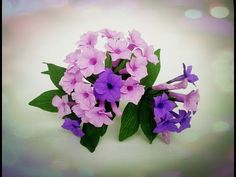 How To Make Garlic Vine Flower From Crepe Paper - Craft Tutorial - YouTube