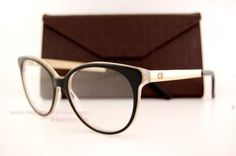 Brand-New-GUCCI-Eyeglass-Frames-3677-4WH-Black-for-Women-100-Authentic