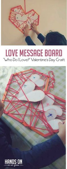 This fun craft for Valentine's Day helps preschoolers think about who they love most! via @handsonaswegrow