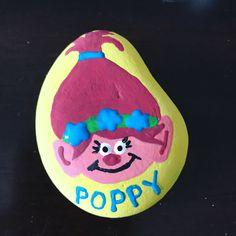 Poppy Trolls painted rock