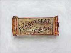 Peanut Slab! From the New Zealand collection by Joel Penkman, egg tempura on board. www.joelpenkman.com
