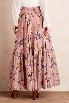 Aquitaine Floral Maxi Skirt, Pink