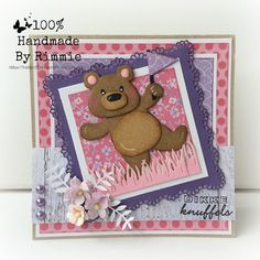 Handmade By Rimmie Baby Cards, Kids Cards, Tedy Bear, Marianne Design Cards, Scrapbook Borders, Make Your Own Card, General Crafts, Love Cards, Creative Crafts
