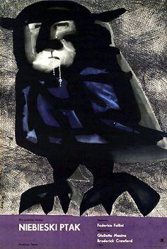 "MP420. ""Il Bidone"" Polish poster by Jan Lenica (Federico Fellini 1955) / #Movieposter"