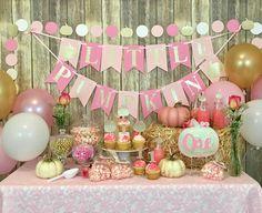 Little Pumpkin Banner Birthday Banner First Birthday Baby