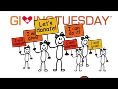 """is a new Canadian movement for giving and volunteering, taking place each year after Cyber Monday. The """"Opening day of the giving season. Volunteer Management, Career Training, Live With Purpose, Giving Tuesday, Media Campaign, Service Projects, Jobs Hiring, Selfie, Go Fund Me"""