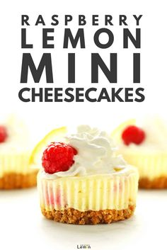 This lemon raspberry mini cheesecake recipe is the easiest way to make cheesecake ever. No need for a special pan or water bath and they turn out perfect every time! Most importantly they are absolutely delicious. #zestedlemon #cheesecake #minicheesecakes #dessert #recipe |zestedlemon.com Lemon Raspberry Cheesecake, How To Make Cheesecake, Low Carb Cheesecake Recipe, Frozen Cheesecake, Raspberry Dessert Recipes, Healthy Cheesecake, Cheesecake Bites, Mini Cheesecakes, Cheesecake Calories
