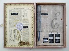 mano kellner, project 2013, kunstkiste nr 45, leinen - sold - Art Boxes, Box Art, Collage, Assemblage Art, Creative Inspiration, Paper Art, Digital Art, Objects, Scrapbook