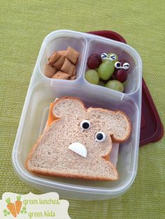 Monster Sandwiches Lunch by Green Lunches, Green Kids | www.greenlunchesgreenkids.com | Fun, Easy, and Eco-Friendly Bento Style Lunches!