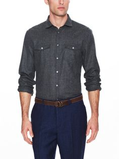 Slim Fit Military Shirt
