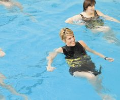 Here's how to get a more intense workout, and less joint pain, with high intensity interval training in the water. @mwbforme