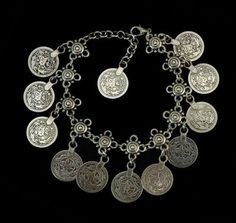 Bohemian Turkish Coin Silver Antalya Anklet