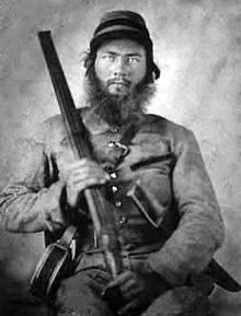 Confederate Cavalrymen with Shotgun