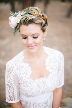 Bohemian gown & a flower crown: http://www.stylemepretty.com/2014/09/03/colorado-springs-summer-camp-wedding/ | Photography: Bellamint Photography - http://bellamintphotography.com/