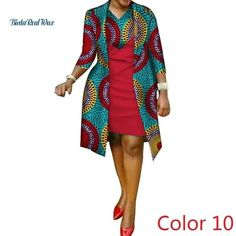 African cotton wax Print Dress and Suit Coat for Women - African Fashion Dresses African Fashion Ankara, African Fashion Designers, Latest African Fashion Dresses, African Dresses For Women, African Print Dresses, African Print Fashion, Africa Fashion, African Attire, African Women Fashion