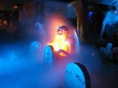 Toonbobo's awesome front yard Halloween display in Livermore, California is made extra-spooky by adding gobs of fog. Photo via Flickr.