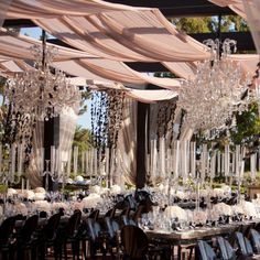 Gorgeous blush color and details reception setting courtesy of Strictly Weddings