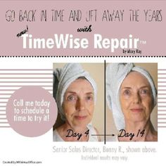 TimeWise Repair Volu-Firm...lift away the years with this amazing product!  www.marykay.com/priscillabergstrom