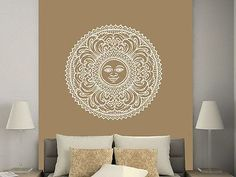 Sun Wall Decal Moon Sun Ethnical Symbol Stars Wall Decals Vinyl Sticker C535