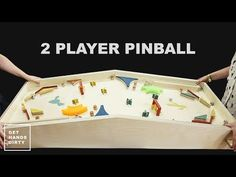 How to Make a Two Player Pinball Machine Come creare un flipper a due giocatori Woodworking Toys, Woodworking Projects, Life Size Games, Two Player Games, Wood Games, Diy Games, Diy Holz, Outdoor Games, Wood Toys