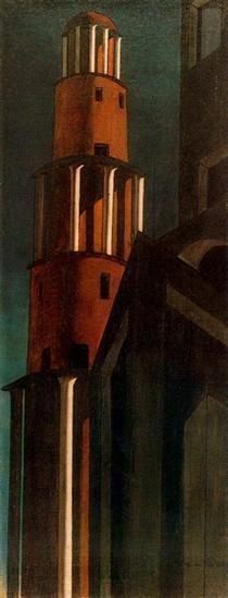 The tower - Giorgio de Chirico