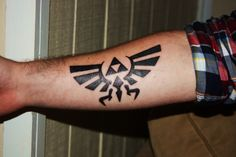 Tattoo<3 This is my friend Ryans?-first- tattoo right after he got it done. Zelda was a huge part of his childhood so he wanted to pay tribute to that. Also, there are a couple of us getting Zelda tattoos so its become sort of a symbol of our friendship as well. Tattoo~