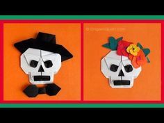 Halloween origami is one way parents can save money and have quality time with kids. Here are a list of easy Halloween Origami Paper Crafts for Kids. Origami Hat, Gato Origami, Origami Bookmark, Origami Stars, Origami Flowers, Origami Paper, Origami Boxes, Kids Origami, Oragami