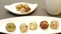 Boules d'energie dans une assiette Garlic, Vegetables, Food, Home Made, Plate, Essen, Vegetable Recipes, Meals, Yemek