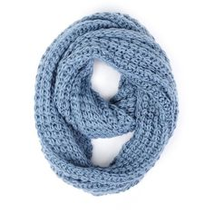Paula Bianco Chunky Infinity Scarf in Faded Denim ($62) ❤ liked on Polyvore featuring accessories, scarves, faded denim, scarves & shawls, women, loop scarves, round scarves, circle scarf, paula bianco scarves and infinity scarf