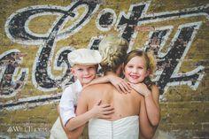 Bride with her children.