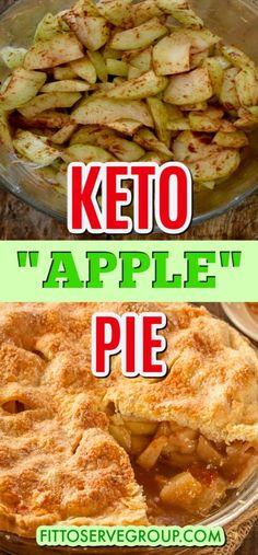 Sugar Free Apple Pie, Gluten Free Apple Pie, Low Fat Apple Pie Recipe, Low Carb Desserts, Low Carb Recipes, Keto Apple Recipes, Recipe Using Apples, Keto Meal Plan, Keto Snacks