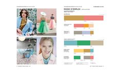 A colorful freshness perks up the urban grays and sets the mood for the entire season (REVERIE). Trend Board, Peclers Paris, Paris Summer, 2016 Trends, Pantone Color, Color Trends, Fashion Prints, Color Inspiration, Color Patterns