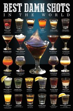 Wow your guests with one of these delicious easy party cocktail recipes. Here are 50 of the best cocktails perfect for any event or party. Liquor Drinks, Cocktail Drinks, Beverages, Liquor Shots, Bourbon Drinks, Beverage Bars, Whiskey Shots, Tequila Drinks, Tequila Shots