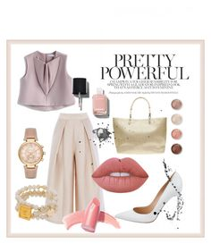 """Pink Mood with soft make up "" by nia-yemima on Polyvore featuring Chicwish, Gianvito Rossi, Michael Kors, Elizabeth Arden, Lime Crime, Dorothy Perkins, Chanel and Terre Mère"