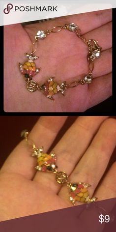 Kissing Koi Fish Bracelet Beautiful Gold Filled Kissing Koi Fish with crystal accents. Jewelry Bracelets