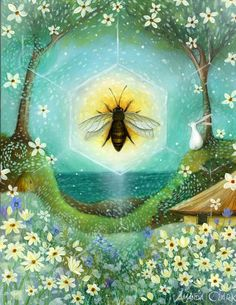 Summer Solstice.  Art print by Amanda Clark. door earthangelsarts, £18.00
