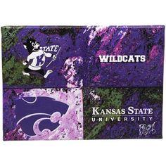 Kansas State Wildcats 14'' x 10'' Warhol Canvas Art