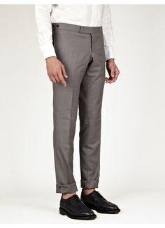 Thom Browne Men's Slim Side Tab Trousers