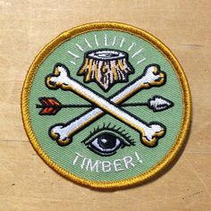 ARROW & BONE ironon PATCH by timberps on Etsy