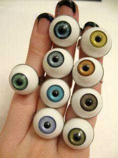 Eye Ball Ring MORE COLORS via Etsy
