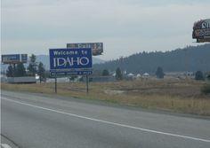 May 2012 - Entering Idaho from Washington on Interstate 90