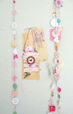 <3 pretty paper punch garland