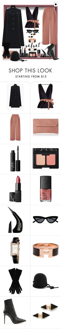 """One must always have an ace up one's sleeve!"" by ritva-harjula ❤ liked on Polyvore featuring Roksanda, Topshop, L.K.Bennett, NARS Cosmetics, NYX, Le Specs, Hermès, Armani Collezioni, Dsquared2 and Paul Andrew"
