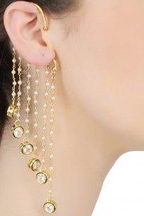 Gold Plated Umbrella Earcuff Earrings