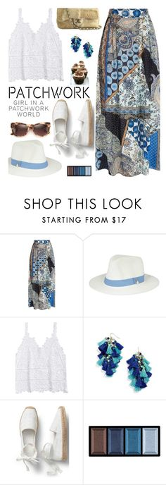 """""""All Patched Up: Patchwork"""" by hamaly ❤ liked on Polyvore featuring Etro, BaubleBar, Clé de Peau Beauté, Chanel, outfit, ootd, trends and patchwork"""