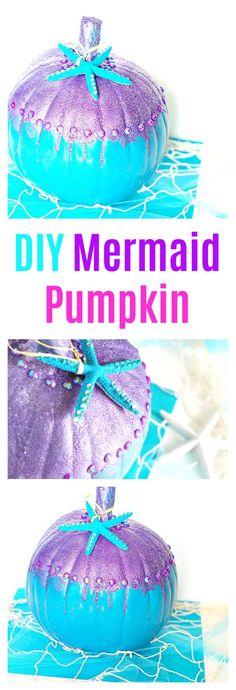 DIY Mermaid Pumpkin